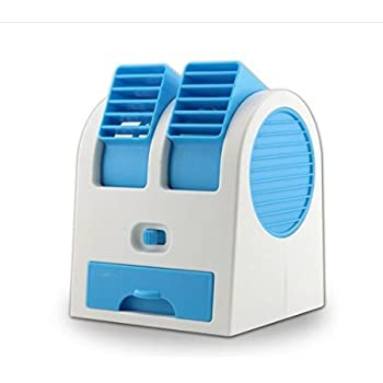 2015 New Double Layer USB Mini Air Conditioning Blade Less Fan Portable Mini  Air