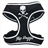 Hip Doggie Black Skull Mesh Harness Vest, XX-Large, My Pet Supplies