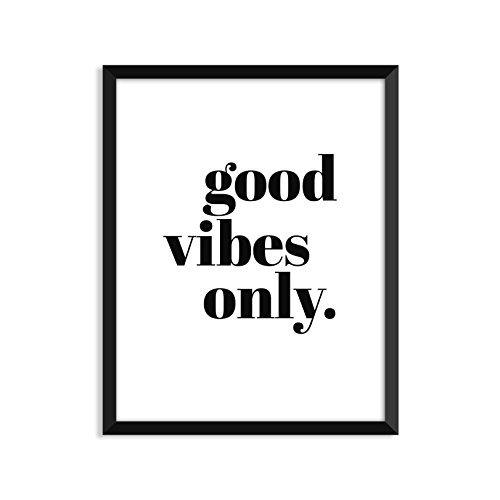 good vibes only - Unframed art print poster or greeting card