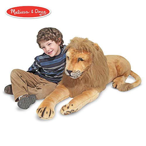 "Melissa & Doug Lion Giant Stuffed Animal (Wildlife, Regal Face, Soft Fabric, 22"" H x 76"" W x 15"" L) from Melissa & Doug"