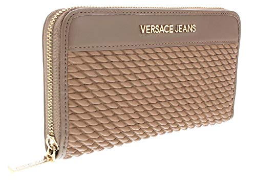 Versace EE3VSBPU1 E723 Tan Pleated Large Wallet for Womens