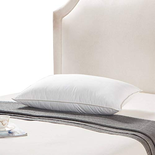 Egyptian Bedding Goose Down Pillow - 1200 Thread Count Egyptian Cotton, Medium Firm, King Size