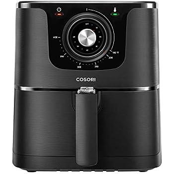 COSORI CO137-AF, 3.7-Quart, 1500-Watt Electric Hot Air Fryer Oven Oilless Cooker With Deluxe Temperature Knob Control, Nonstick Basket, 3.7Qt, color