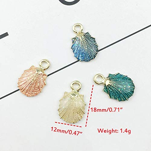 Colorful Mix 13Pcs Conch Sea Shell Pendant DIY Charms Jewelry Making Accessories