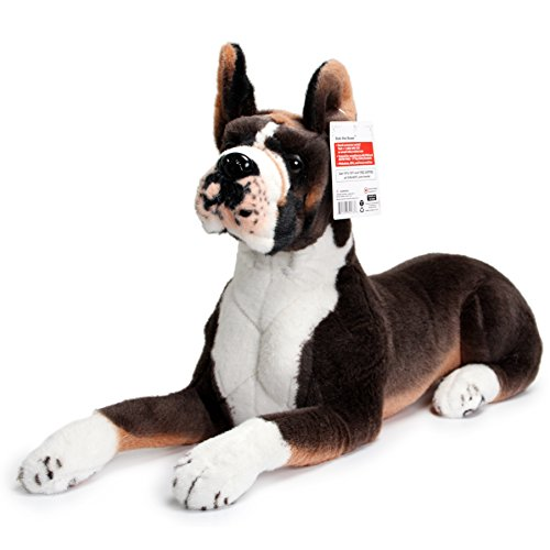 (VIAHART Bob The Boxer | Over 2 1/2 Foot Long Big Stuffed Animal Plush Dog | Shipping from Texas | by Tiger Tale Toys)
