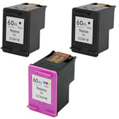 Amsahr 60XLBK(CC641WN) Remanufactured Replacement HP Ink ...