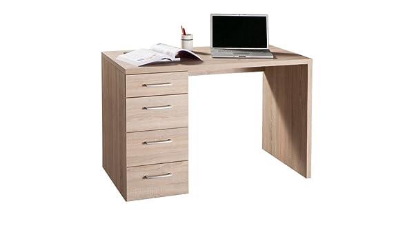 elegante mesa Oficina Cajonera lateral sonoma SR0480 L110h74p60 ...
