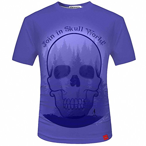 3D Men T shirt Fashion Men's Skull 3D Printed T shirt Plus Size S-5XL Funny Print Men Clothes Camiseta Masculino 11 Asian Size (Tupac Costume)