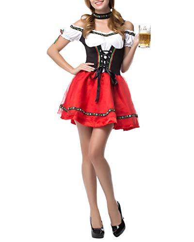 Quesera Women's Oktoberfest Costume Maid Dirndl Carnival
