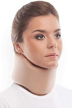 Collarín cervical ergonómico; soporte para el cuello; 100% algodón Medium Beige