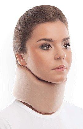 "TOROS-GROUP Ergonomic Cervical Collar/Neck Support Brace / 100% - Cotton Liner - Neck 4"" Beige"