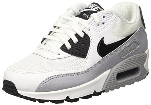 Grey Wolf Donna Black Max Sportive Scarpe Air White Bianco Wmns Essential Nike 90 qS7AU7P
