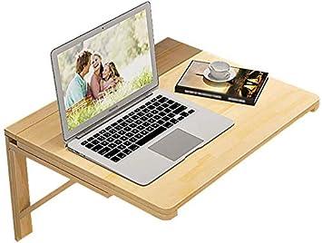 LJA Plegable portátil plegable Mesa de escritorio del ordenador ...