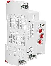 GRT8-M2 AC 220V Relé de Tiempo Multifunción, Temporizador de Retardo de Tiempo Multifunción con 10 Funciones, Montaje en Riel DIN de 35mm