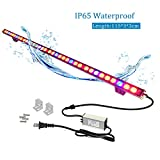 Galaxyhydro Led Grow Plant Light, Waterproof 108W Led Grow Light Bar with Red Blue Spectrum for Hydroponic Indoor Plants Growing