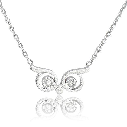 My Very Best Wise Owl Eye Necklace (Silver