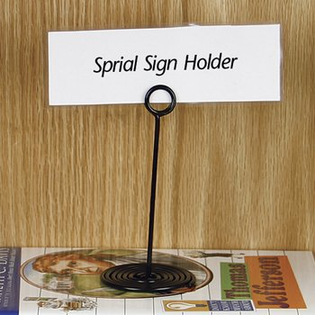 Amazon Com Decorative Sign Holders Spiral Sign Holders 5 H Spiral