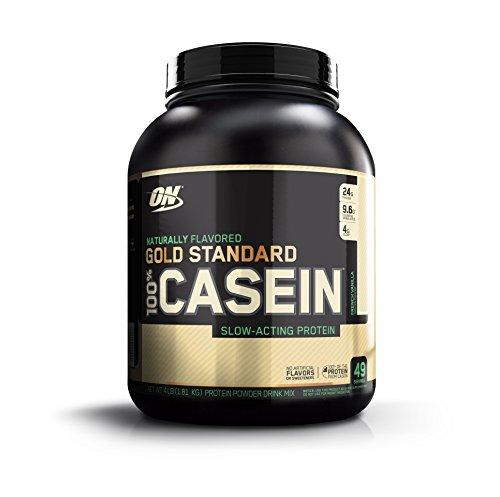 OPTIMUM NUTRITION GOLD STANDARD 100% Micellar Casein Protein Powder, Slow Digesting, Helps Keep You Full, Overnight Muscle Recovery, Naturally Flavored French Vanilla, 1.81 kg (Best Casein Protein Shake)