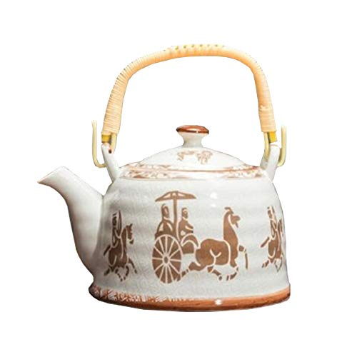 Chinashow Japanese Style Porcelain Teapot Ceramic Teapots with Infuser Baskets 900ml Golden Carriage