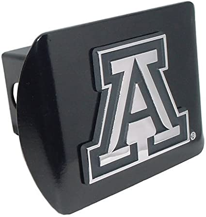 Elektroplate University of Arizona Brushed Silver Trailer Hitch Cover