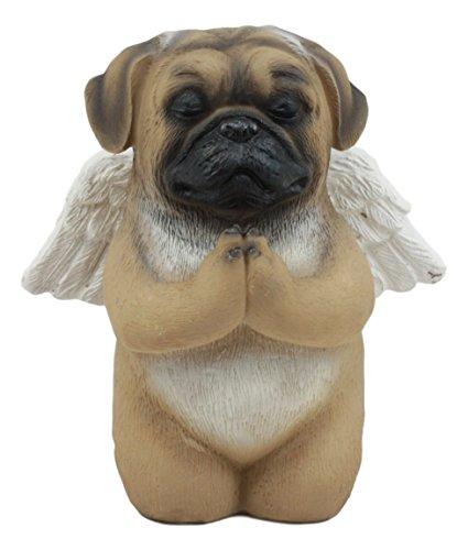(Ebros Adorable Praying Angel Pug Dog Pet Memorial Statue Inspirational Heavenly Pug Sculpture Decor)