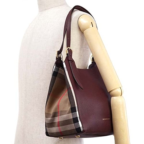 Amazon.co.jp: BURBERRY(バーバリー)ショルダーバッグHOUSECHECKDERBYLEBR3963029SMCANTERBYLMAHOGANYRED   服&ファッション小物 ada078a83fe7d