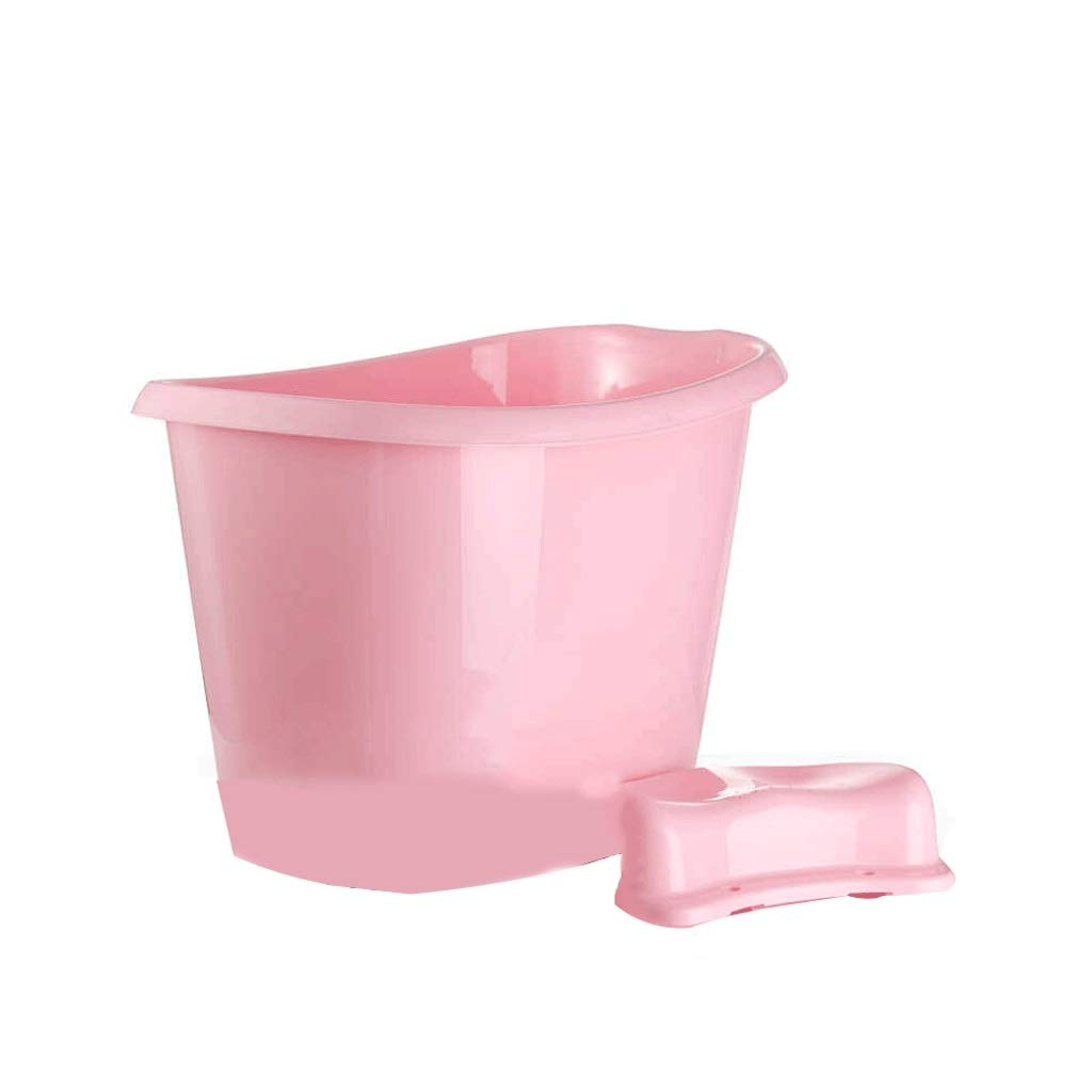Bath tub Bath Children Thick Plastic Tub Tub Bath Tub 6 Color 2 Size (Color : Pink, Size : Large)