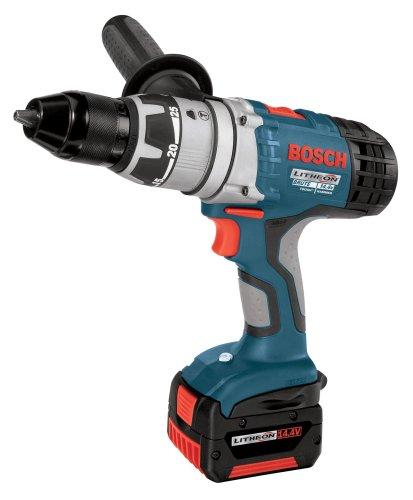 Bosch 17614-01 14.4-Volt 1/2-Inch Brute Tough Litheon Hammer Drill/Driver with 2-Fat Batteries