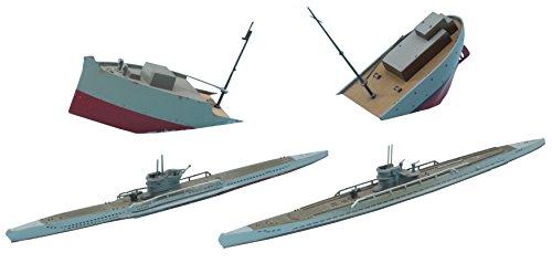 Hasegawa HWL901 1:700 Scale German Submarines U-Boats 7C and 9C Model Kit