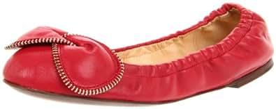 See By Chloe Women's SB19117-105 Ballerina Flat,Red,36 EU/6 M US