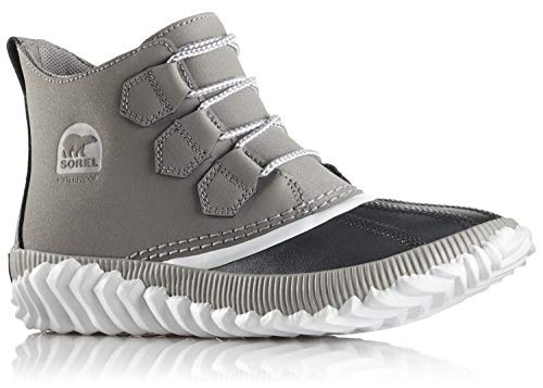 Boots Trainers Shoes (Sorel Women's Out n About Plus Boots Chrome Grey Leather/Metallic Shell Combination 7 B(M) US)