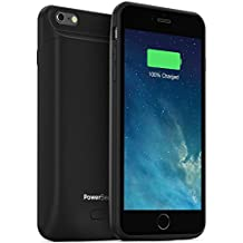 PowerBear Battery Case iPhone 6 Plus Battery Case / iPhone 6S Plus Battery Case (MFI) [6800mAh] High Capacity Rechargeable Charger Pack for Apple iPhone 6+ / 6S+ (Up to 250% Extra Battery) - BLACK [24 Month Warranty]