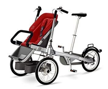Road bicycle - Bicicleta con cochecito para bebé (3 ruedas, 1 pieza): Amazon.es: Bebé