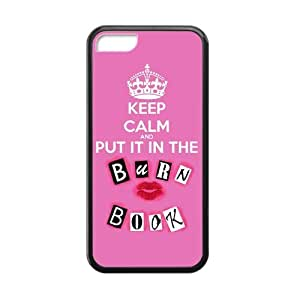 Ashley Device The Personalized Design For iPhone 6 4.7 Laser Technology Rubber Case Keep Calm And Love Burn Book