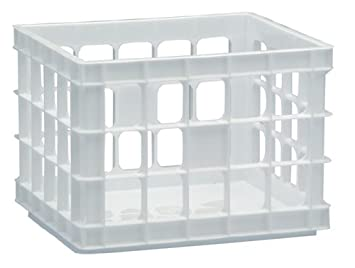 United Solutions Organize Your Home CR0001 White Mini Plastic Storage Crate   Small Storage Container