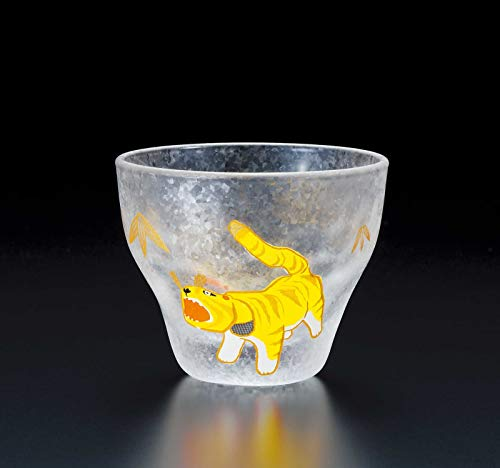ADERIA Made in Japan Quality Auspicious Chinese Zodiac Animal Sign Tiger Shot Glass 90ml Chinese Zodiac Animal Signs