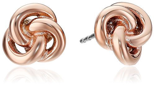 Knot Womens (Fossil Heritage Rose Gold Knots Stud Earrings)