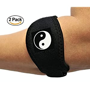Tennis Elbow Brace With Compression Pad (2-pack) - Bandit Therapeutic Forearm Band - Pain Relief for Tennis Elbow & Golfers Elbow