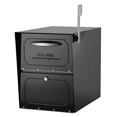 Architectural Mailboxes 620010B-10 Oasis Jr. Elite Post-Mount Locking Mailbox - Architectural Mailboxes Oasis Jr Mailbox