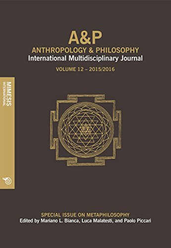 A&P. Anthropology and philosophy. International multidisciplinary journal (2017): Anthropology and Philosophy. Volume 11, 201-2016: Anthropology and Philosophy, International Multidisciplinary Journal