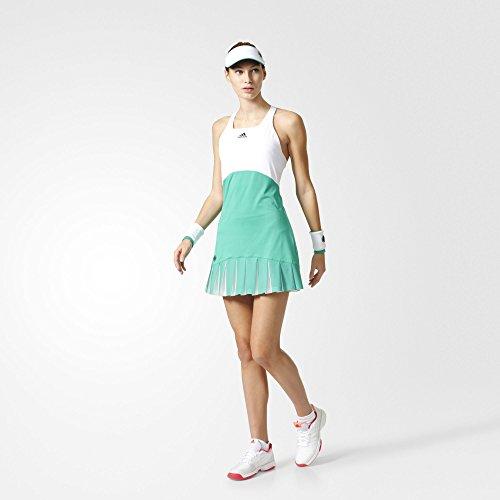 Green Stripe Tennis Dress - adidas Women's 2017 Roland-Garros On-Court Dress, Core Green/White (Size L)
