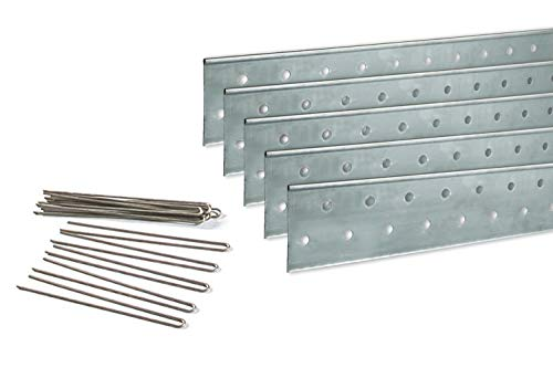 Coyote Landscape Products 637085 PerfEdge Home Kit Lawn Edging, Galvanized (Products Garden Edging Metal)