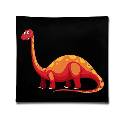 Kjaoi 1818 Inches Pillow Case Orange Large Dinosaur Comfortable Soft Bed Pillow Case Household Pillow Case Office Bolster ()