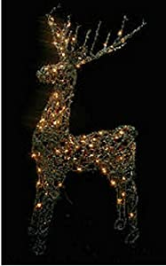 48 animated standing buck reindeer lighted for Animated lighted reindeer christmas decoration