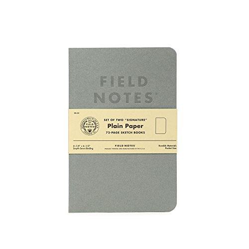 Field Notes Signature Plain Paper Sketch Books, 2-Pack (4.25x6.5-Inch)