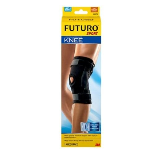 3M Health Care 48579EN FUTURO Sport Knee Brace, Hinged, Adjustable, Black (Pack of 12)