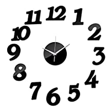 UltimaFio(TM) top fashion new 3d diy acrylic mirror sticker wall clocks horloge large living room decorative needle free delivery