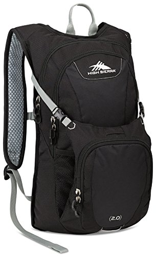 High Sierra Longshot 70L Top LoadBackpack Pack, High-Performance Pack for Backpacking, Hiking, Camping, with Rain Fly, Black/Black/Silver