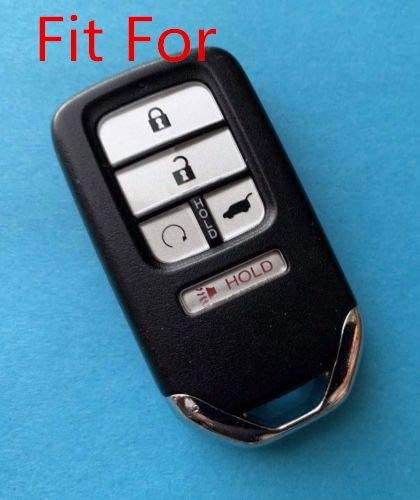 Gray Fob Remote Key Case Cover Jacket Holder Protector Fit for 2015 2016 2017 2018 2019 Honda Civic Accord Pilot CR-V A2C81642600