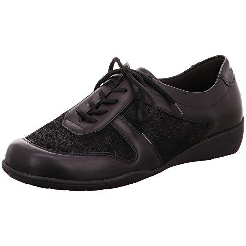 Waldläufer Women's M13012 301 001 Loafer Flats Black ugjtzMq6H